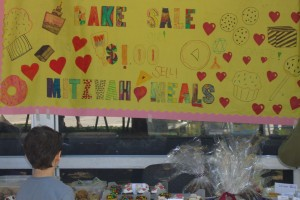 Mrs Finkle's Purim Bake Sale Poster for Mitzvah Meals 3-8-15